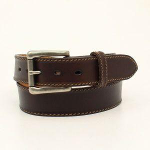 "Nocona ""Ocala"" Chocolate Western Belt"