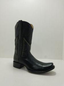 Rudel Mens Alvaro Black Square Toe Cowboy Boots