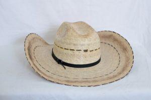 Dustin Burned Palm Straw Cowboy Hat