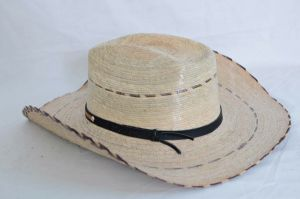 Dustin Palm Straw Brick Cowboy Hat