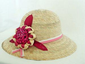 Ladies Palm Straw Hat