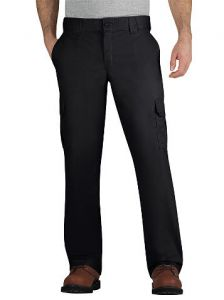 Dickies Mens Stretch Twill Cargo Pants - Black - Big & Tall