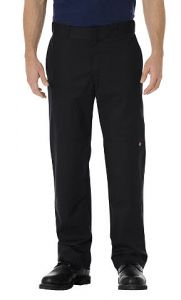 Dickies Mens Stretch Twill Double Knee Work Pants - Black - Big & Tall