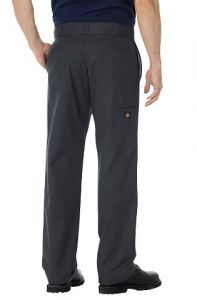 Dickies Mens Stretch Twill Double Knee Work Pants - Charcoal
