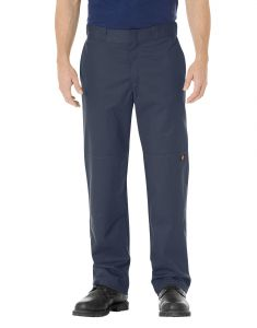 Dickies Mens Stretch Twill Double Knee Work Pants - Dark Navy