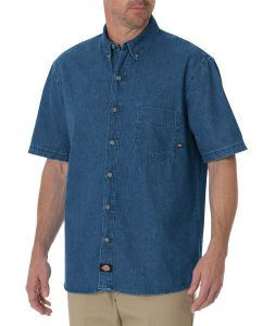 Dickies Denim Short Sleeve Work Shirt - Big & Tall