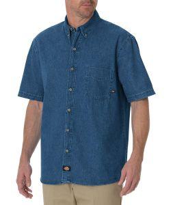 Dickies Denim Short Sleeve Work Shirt